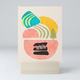 Modern shapes 1 Mini Art Print
