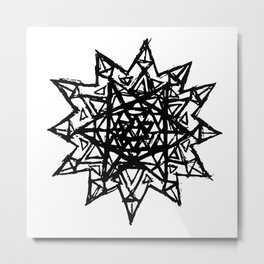 Merkaba of Light Metal Print