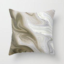 Pastel Brown & Beige Throw Pillow