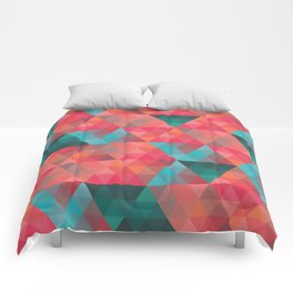 Abstract Geometric Pattern colorful triangles abstract art Comforters