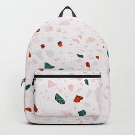 Terrazzo + Green Marble Backpack