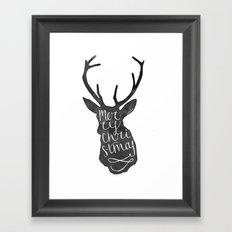 Merry Christmas Deer (4) Framed Art Print