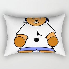 TEDDY BEAR LOVE MUSIC Rectangular Pillow