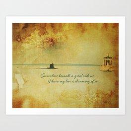 New London Homecoming - Submarine Art Print