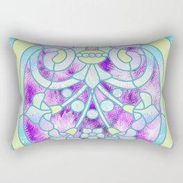 Art Nouveau Aqua and Purple Batik Design Rectangular Pillow