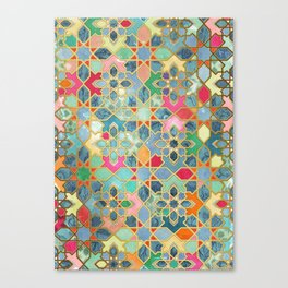 Gilt & Glory - Colorful Moroccan Mosaic Canvas Print