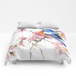 Bluebird and Cherry Blossom Comforters
