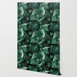 Tropical Jungle Leaves Dream #6 #tropical #decor #art #society6 Wallpaper