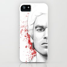 Dexter Morgan Portrait, Blood Splatters Slim Case iPhone SE