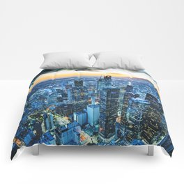 los angeles downtown Comforters