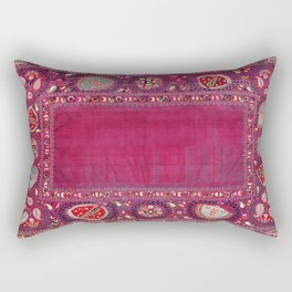 Shakhrisyabz  Antique South West Uzbekistan Suzani Embroidery Rectangular Pillow