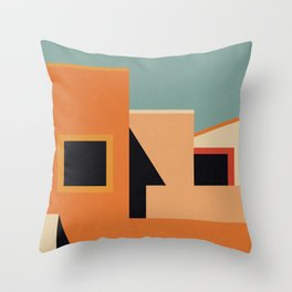 Summer Urban Landscape Throw Pillow
