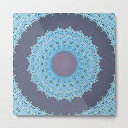 Icy Mandala Metal Print