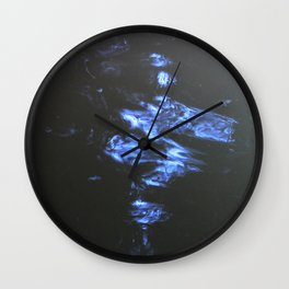 Doodle of light on water Wall Clock
