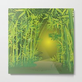 Bamboo forest scene Metal Print
