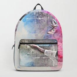 Skateboard Kickflip Painting Backpack