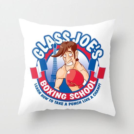 Glass Joe's Boxing School Throw Pillow