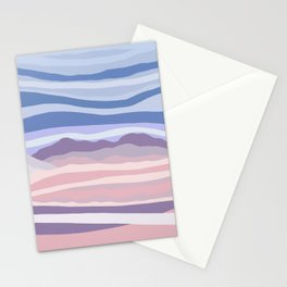 Mountain Scape // Abstract Desert Landscape Red Rock Canyon Sky Clouds Artistic Brush Strokes Stationery Cards