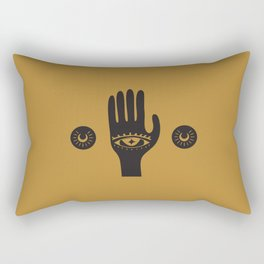 Golden Third Eye Palm Rectangular Pillow