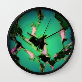 A working turquoise engine Wall Clock