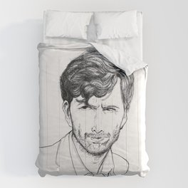 David Tennant as Broadchurch's Alec Hardy (or Gracepoint's Emmett Carver) Etching Comforters
