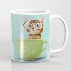 Kitten with glasses Mug