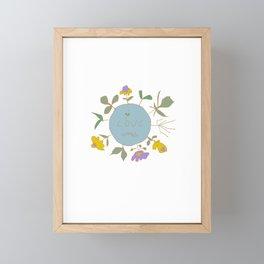 i love weeds Framed Mini Art Print