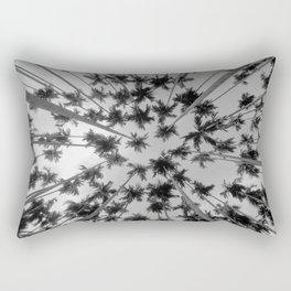 Above Palm Trees (Black and White) Rectangular Pillow