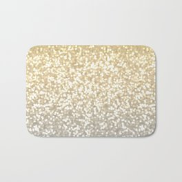 Gold and Silver Glitter Ombre Badematte