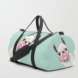 Bubble Gum Sneaky Llama in Green Sporttaschen