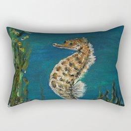 The Spectacular Seahorse Rectangular Pillow