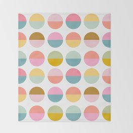 Colorful and Bright Circle Pattern Throw Blanket