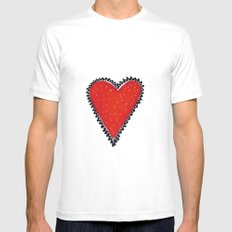 I HEART YOU MEDIUM Mens Fitted Tee White