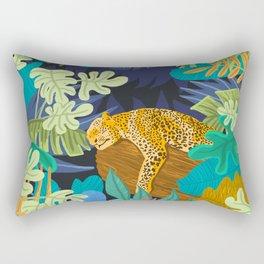 Sleeping Panther Rectangular Pillow
