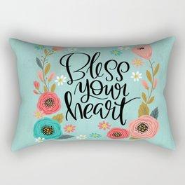 Pretty Not-So-Swe*ry: Bless Your Heart Rectangular Pillow
