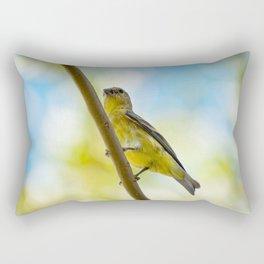 Yellow Bird - III Rectangular Pillow