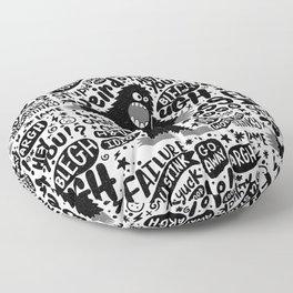 internal monologue Floor Pillow