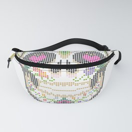 Day of the Dead, Cinco de Mayo, Calavera, Dia de los Muertos - Sugar Skull - Candy Skull Make Up Fac Fanny Pack
