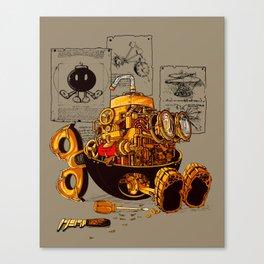 Work of the genius Canvas Print