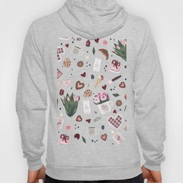 Hand Drawn Valentine Pattern Hoody