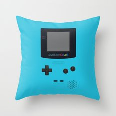 GAMEBOY Color - Light Blue Version Throw Pillow