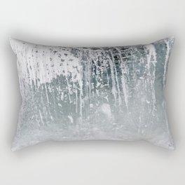 Ice. Close up background. Rectangular Pillow