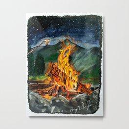 'Life Goals' Original Campfire Pastels Art - by Dark Mountain Arts Metal Print