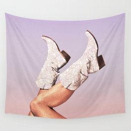 These Boots - Glitter Miami Vibes Wall Tapestry