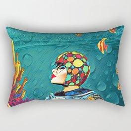 Under the water Rectangular Pillow