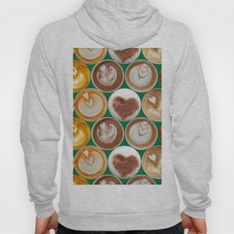 Latte Polka Dots in Winter Green Hoody