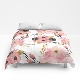 Night Meadow on White Comforters