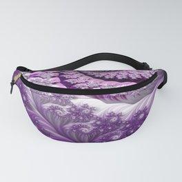 Beautiful Bloom of Lilacs Lavender Fractal Spiral Fanny Pack