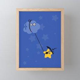 Fantastic Abordage Falling Pirate Star Framed Mini Art Print