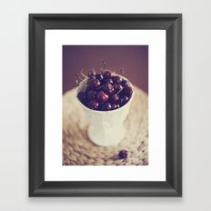 life's a bowl of cherries Framed Art Print